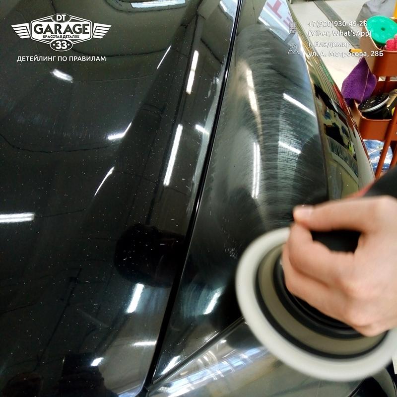 На фото процесс абразивной полировки в мастерской DT GARAGE 33