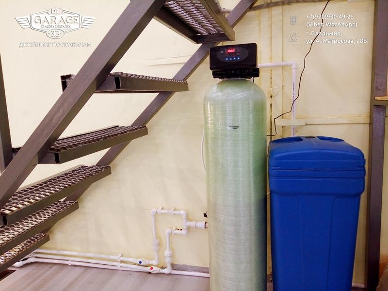На фото промышленная система фильтрации воды