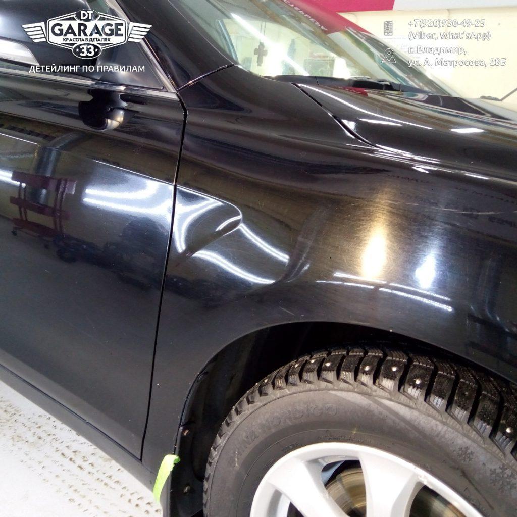 На фото Toyota Camry до полировки.