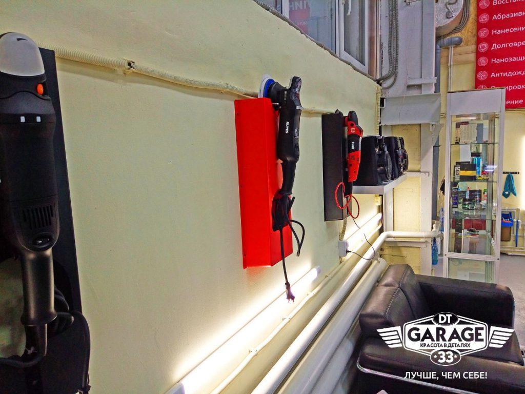 На фото полировальные машины, которыми пользуются мастера «DT GARAGE 33».