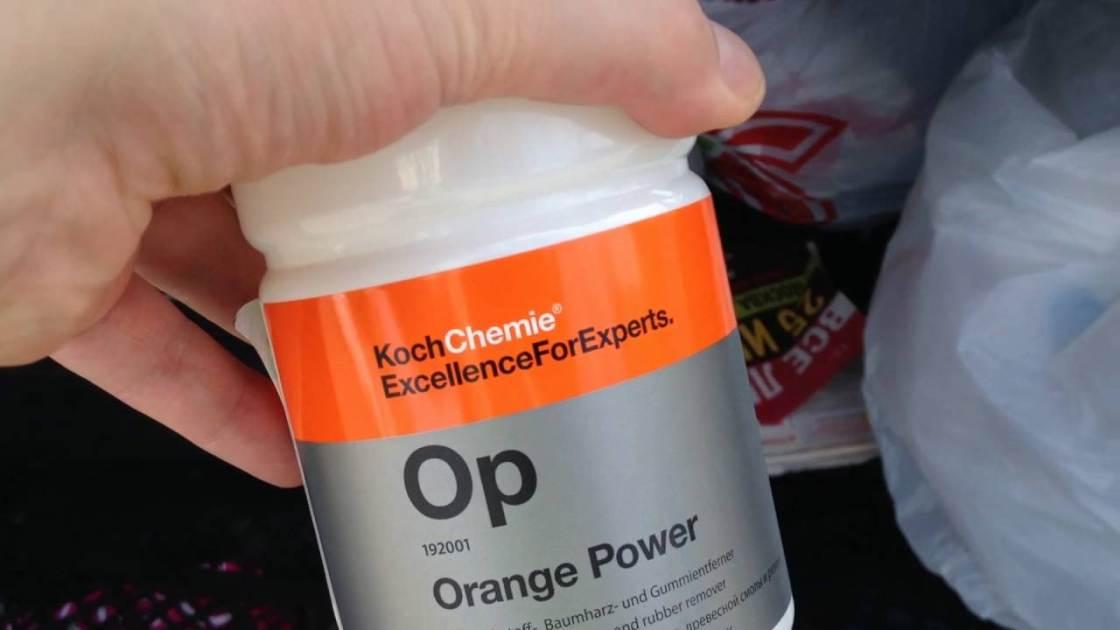 На фото Orange Power – моющее средство производства KochChemie.