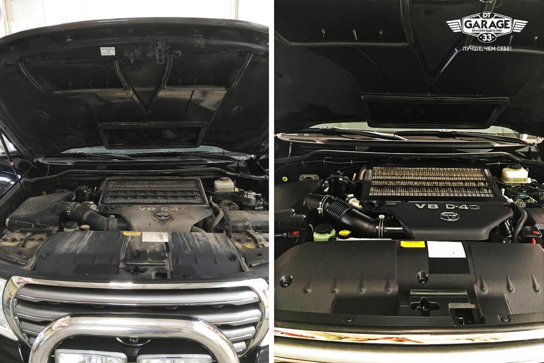 На фото мотор до чистки и после. Разницу трудно не заметить.