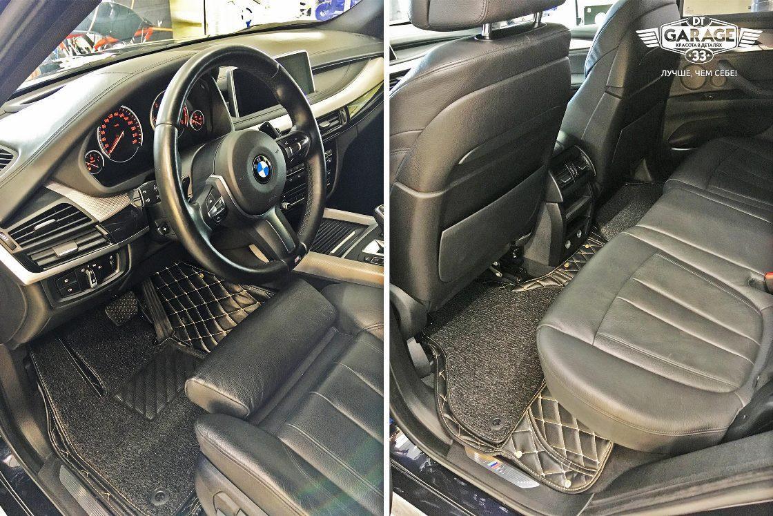 На фото салон BMW X5 после чистки с консервацией в мастерской «DT GARAGE 33».