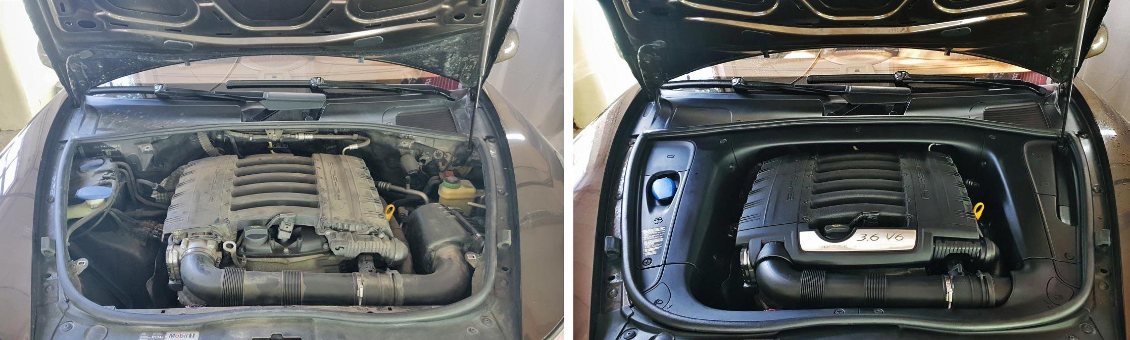 Мотор до и после мойки. Сравните.