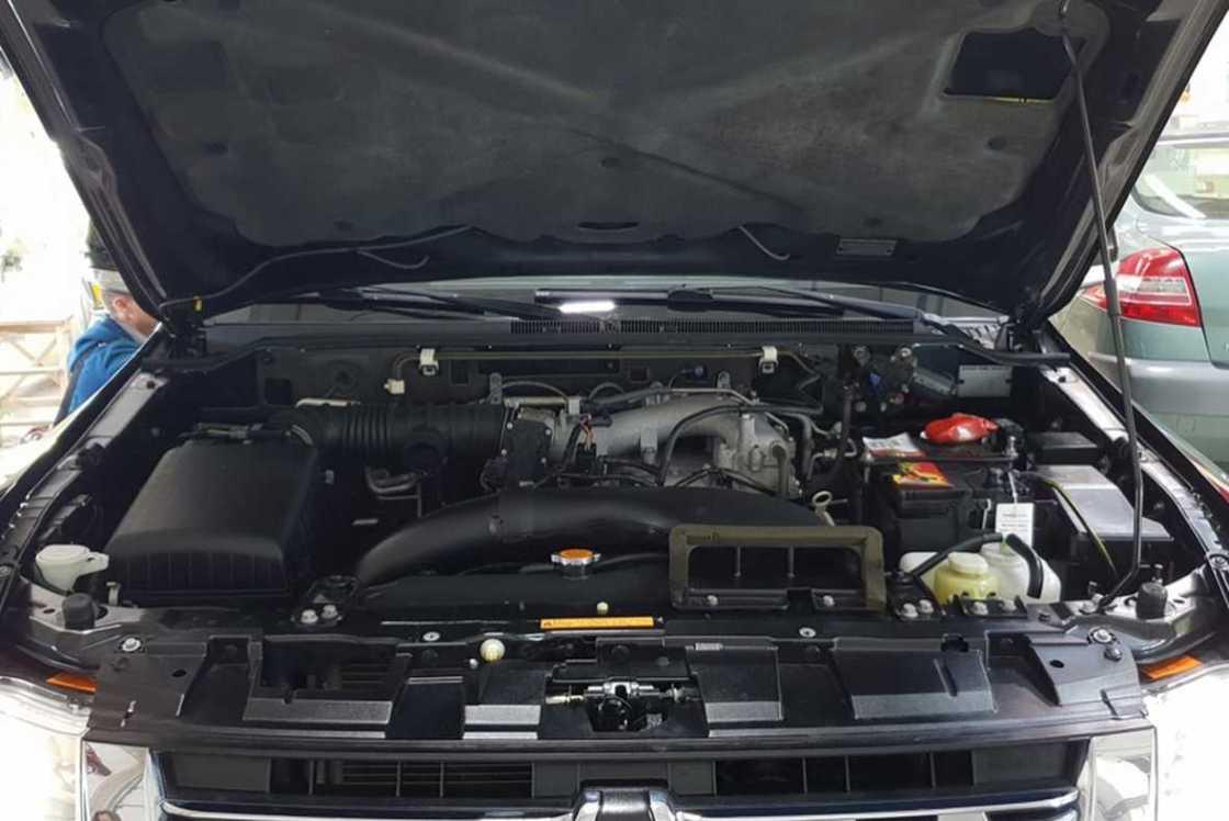 На фото чистый мотор. Все пространство под капотом обработано консервантом.