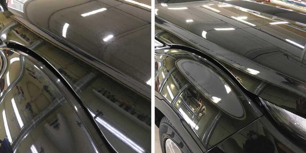 Смотреть на фото – машина до и после полировки.