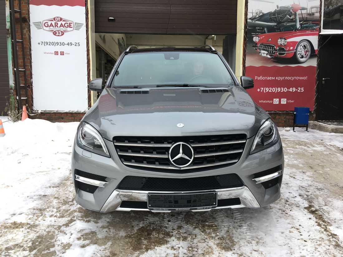 Смотреть на фото Mercedes-Benz ML, обработанный керамикой.