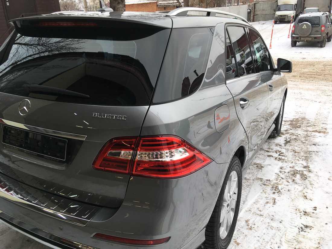 Смотреть на фото Mercedes-Benz ML после нанесения керамики.