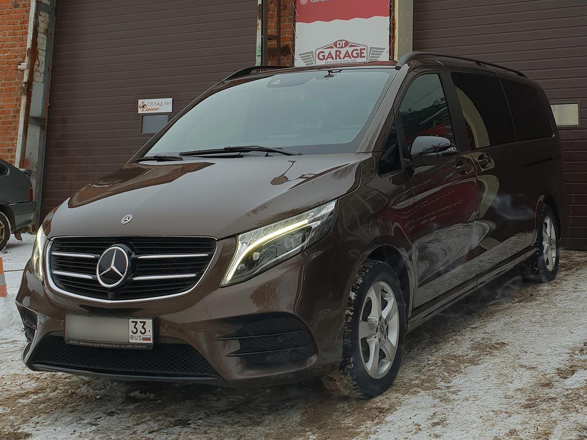 Смотреть фото Mercedes-Benz Viano после полировки в владимирском детейлинге «DT GARAGE 33»