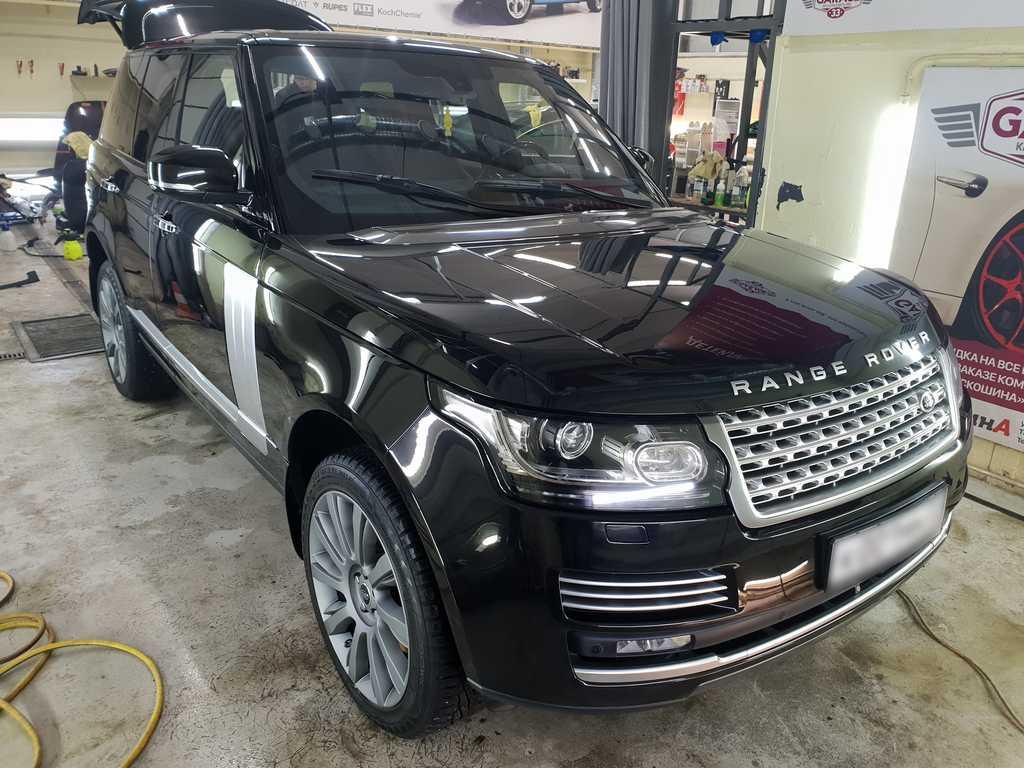 Смотреть на фото Range Rover после обработки керамикой