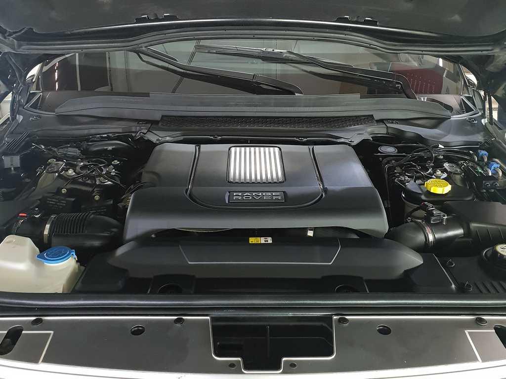 Смотреть на фото мотор Range Rover после химчистки с консервацией в фирме DT GARAGE 33