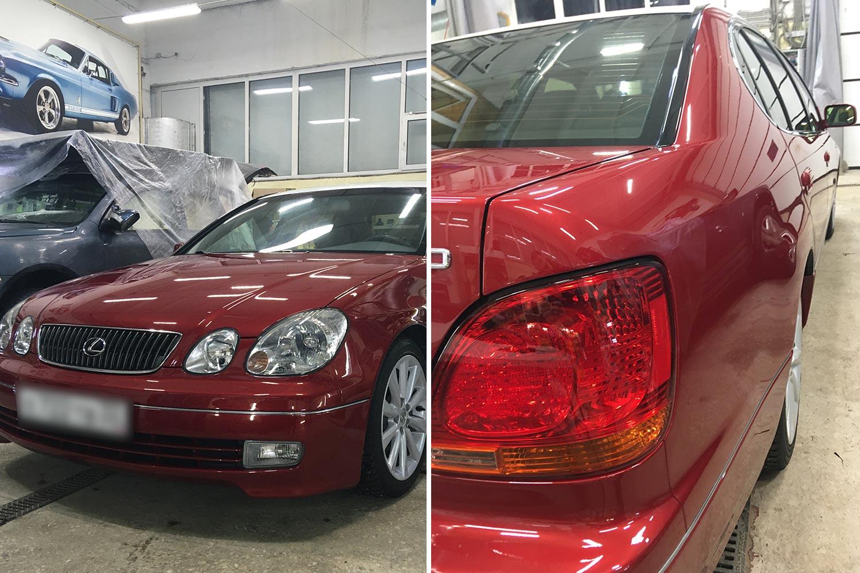 Смотреть на фото Lexus GS 300 2003-го года после реставрации в детейлинге «DT GARAGE 33»