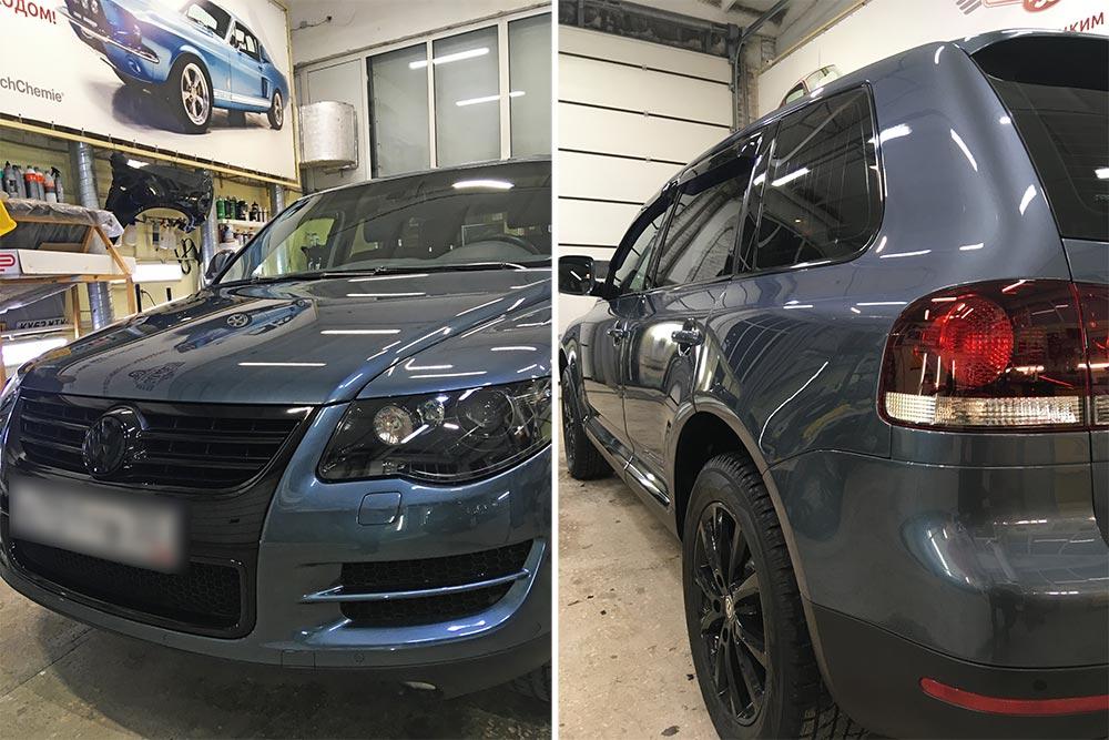 Смотреть на фото Volkswagen Touareg после реставрации в детейлинге «DT GARAGE 33»