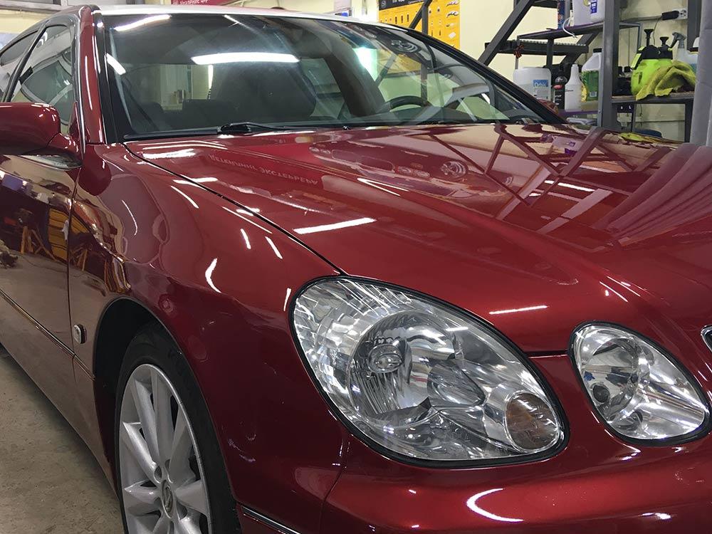 Смотреть на фото и видео процесс реставрации автомобиля Lexus GS 300 во владимирском детейлинге DT GARAGE 33.