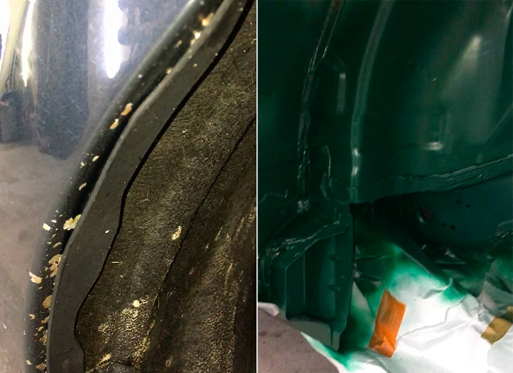 Смотреть на фото сколы на крыле у Volvo XC60
