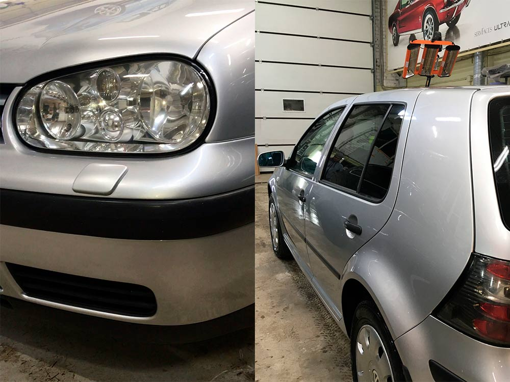 Смотреть фото Volkswagen Golf после завершения реставрации.