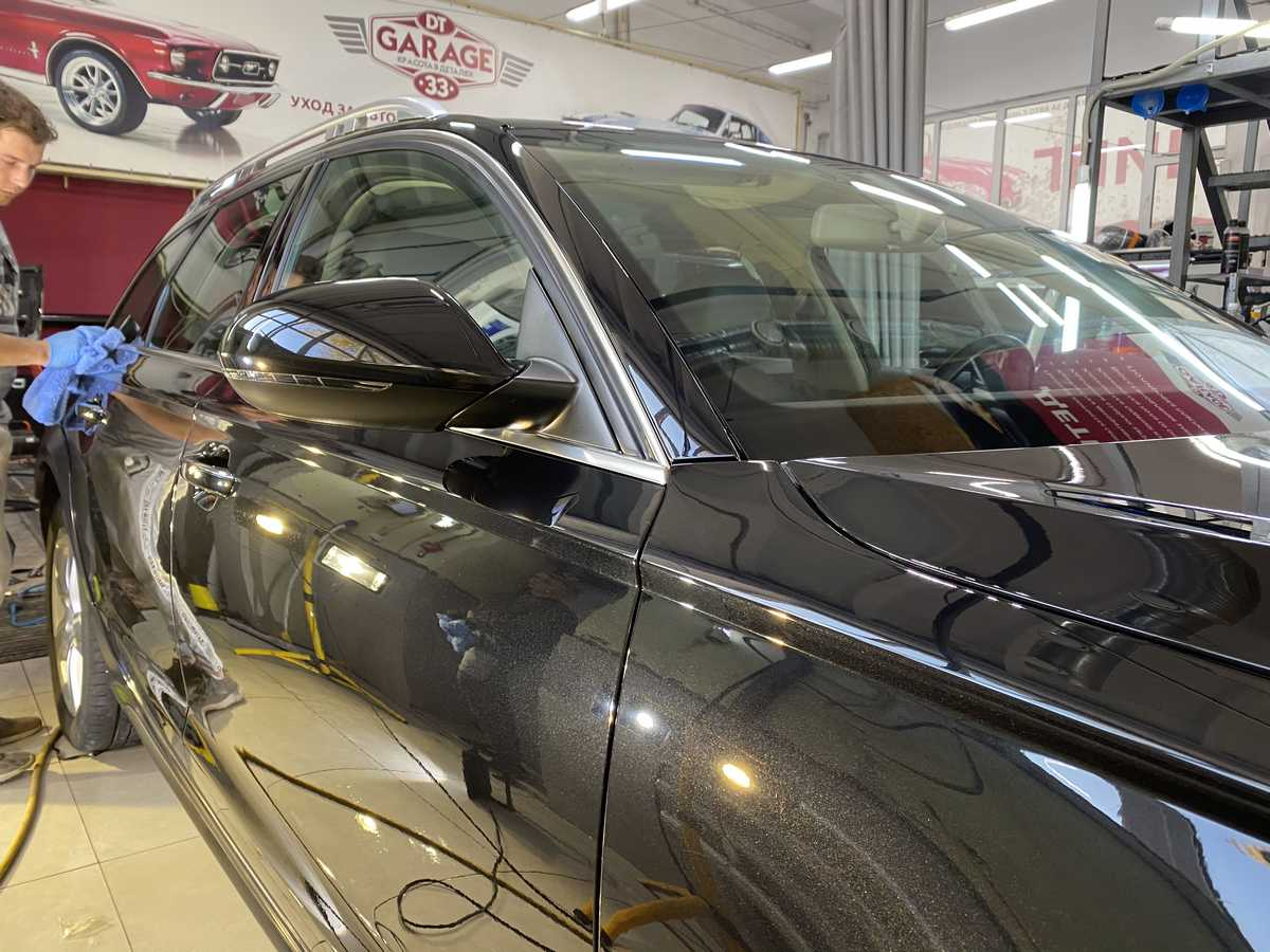 Смотреть на фото автомобиль Audi A6 allroad, покрытый американской керамикой.
