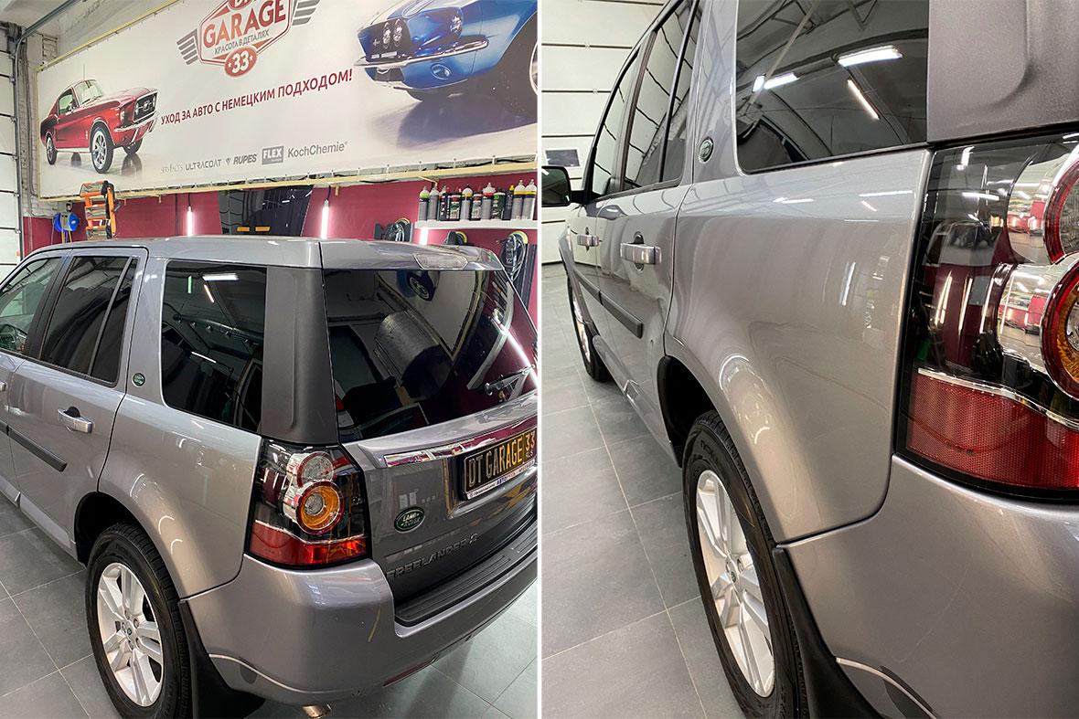Смотреть на фото вблизи Land Rover Freelander после обработки керамикой. Какой она дает эффект?