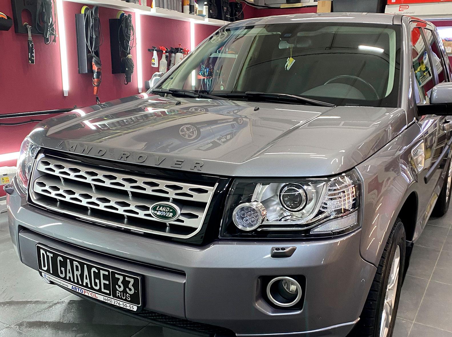 Смотреть на фото, как выглядит Land Rover Freelander после ремонта царапин и сколов.
