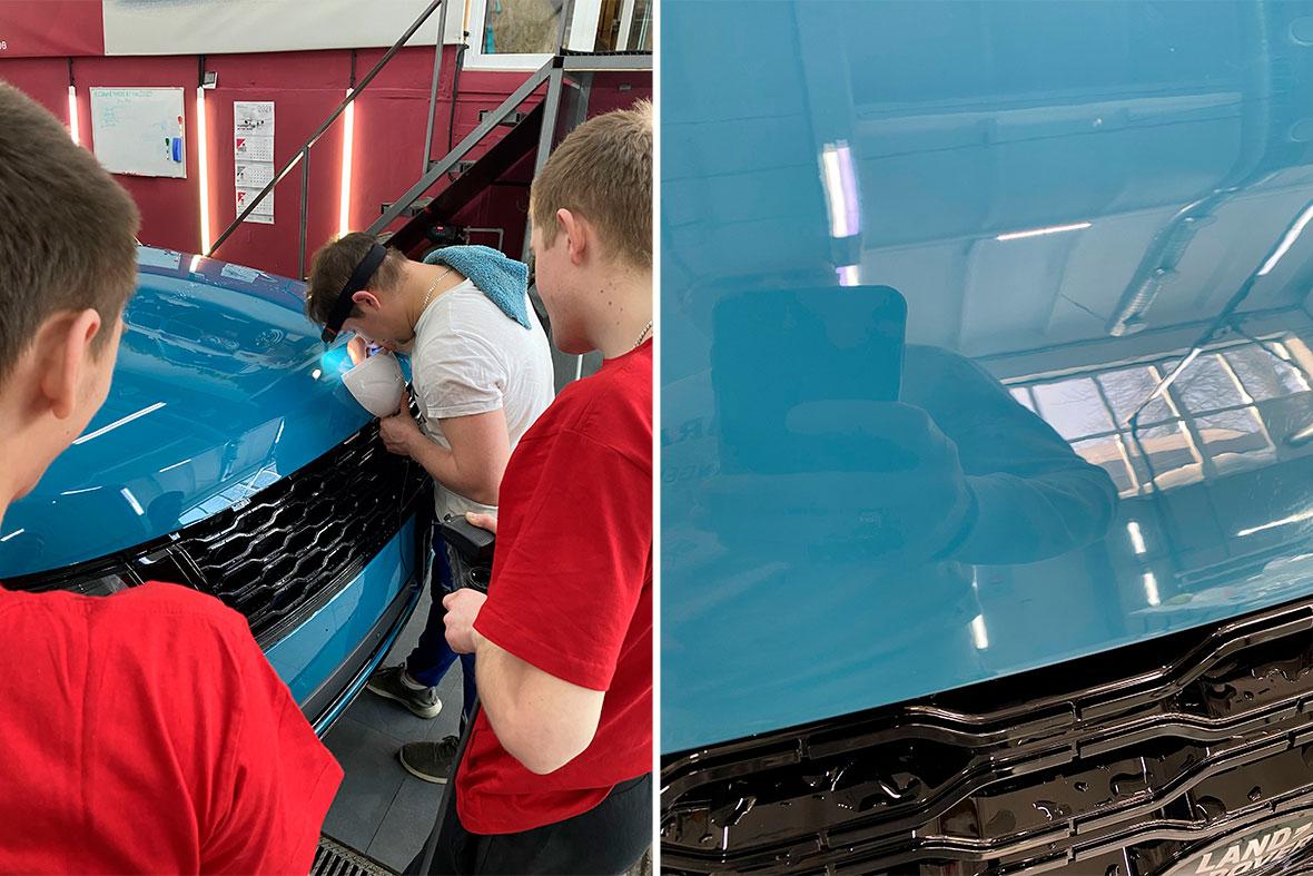 Смотреть фото, как ремонтируются сколы на автомобилях в городе Владимир.