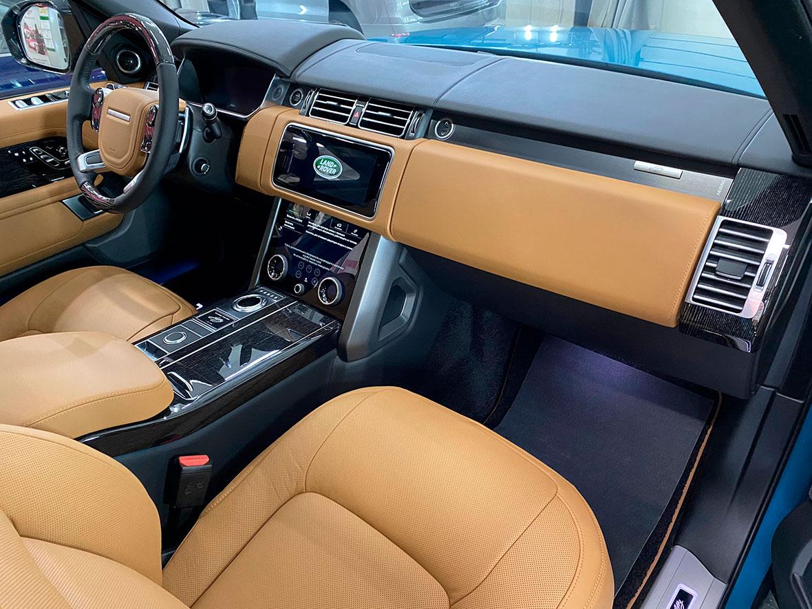 Обработка салона кроссовера Range Rover Fifty керамикой.